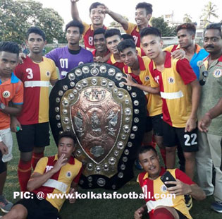 East Bengal win u19 IFA Shield 2018