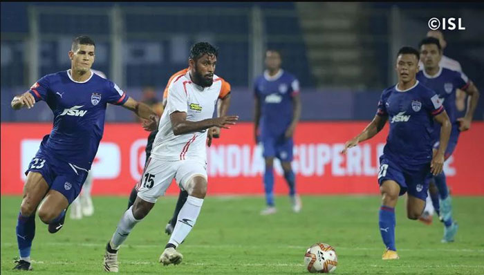 08.12.2020 (ISL: M-21 ) : BENGALURU FC - <b></font> 2-2 </b></font>  - NORTH EAST UNITED