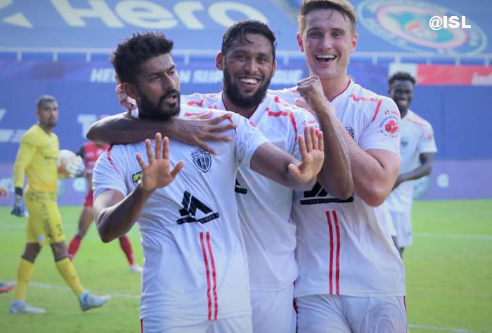17/01/ 21 (ISL M-61) : JAMSHEDPUR FC -- (<b><font color=red> 1-2 </b></font>) -- NORTH EAST UNITED