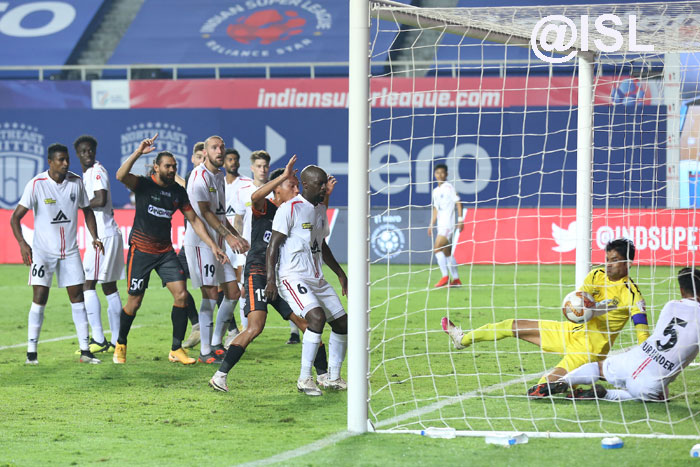 04/02/2021 (ISL: MATCH-81 )</b> : NORTH EAST UNITED - <b><font color=red> 2-2 </b></font> - FC GOA