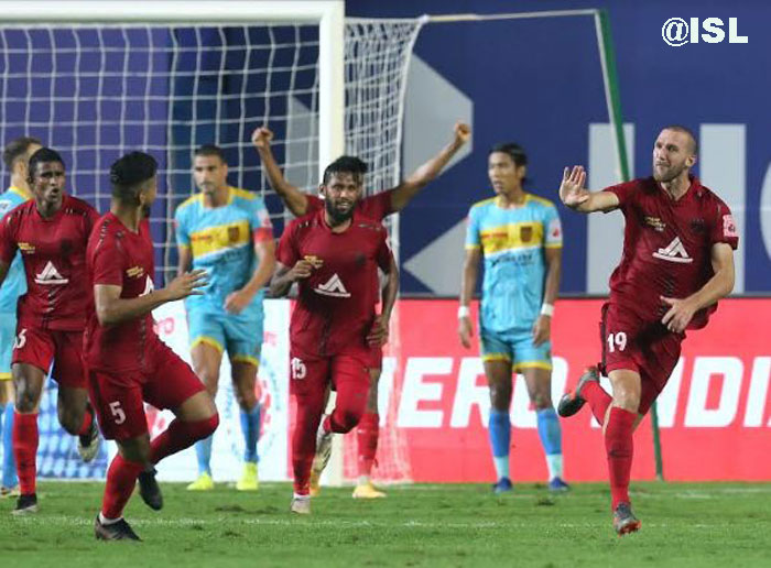 08/01/21 : (ISL : M-51) : NORTH EAST UNITED -- <b><font color=red> 2-4 </b></font> - HYDERABAD FC