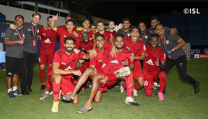 26/02/2021 (MATCH 107 - ISL) : NORTH EAST UNITED <b><font color=red> 2-0 </b></font> KERALA BLASTERS <br>