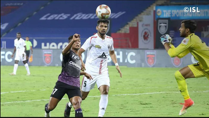 22.12.20 : (ISL: M-37) : ODISHA FC -- ( <b><font color=red> 2-2 </b></font>) -- NORTH EAST UNITED