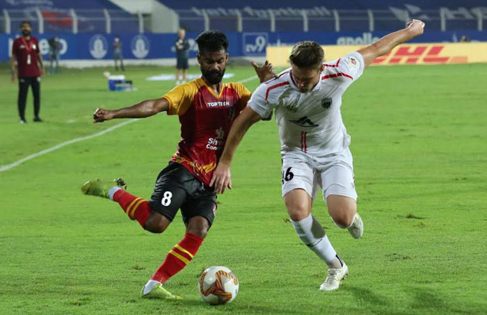 23/02/2021 (ISL: MATCH-104) : SC EAST BENGAL <b><font color=red> 1-2 </b></font> NORTH EAST UNITED  (<b> FT.. </b>) <br>